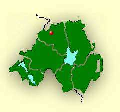 Map showing Limavady Location