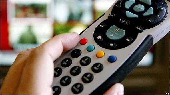 The red button on a remote control