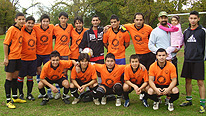Rasoul Ahmadi and his football team, 'Maiwand'