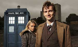 Billie Piper and David Tennant in the new Doctor Who