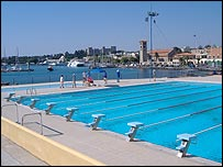 Swimming pool at the Nautical Club of Rhodes