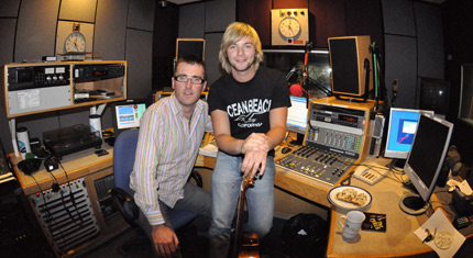 Keith Harkin with Mark Patterson