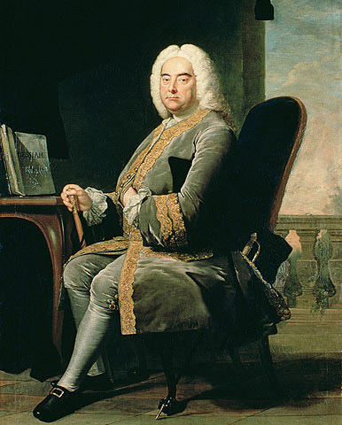 Full-length portrait of Handel by Thomas Hudson (1756)