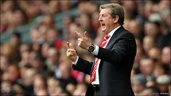 Roy Hodgson looks increasingly frustrated as Liverpool lose to Blackpool
