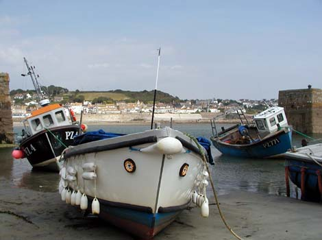 Boats at St Michaels Mount by Colin Ward