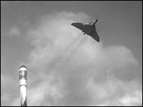 Vulcan bomber and rocket