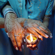 Holding an oil lamp