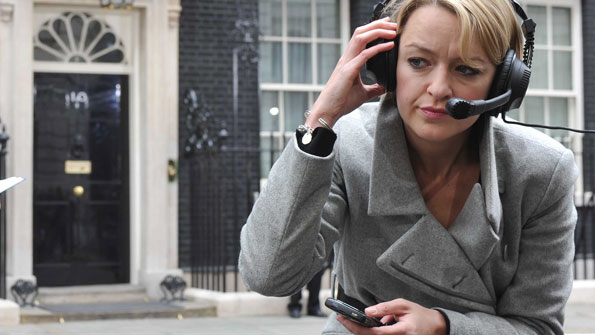 Laura Kuenssberg outside 10 Downing Street