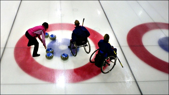 Wheelchair curling at Murrayfield in Scotland