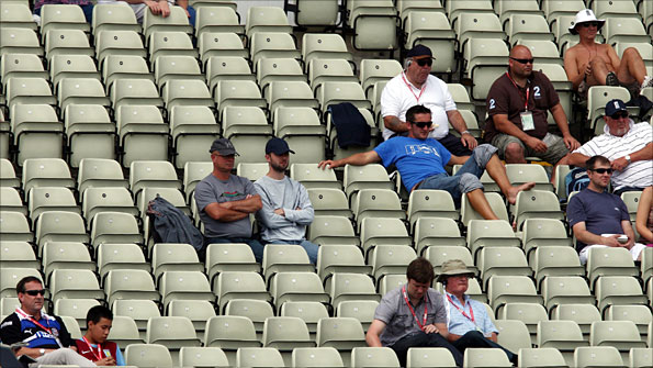 Empty seats at the second Test at Edgbaston
