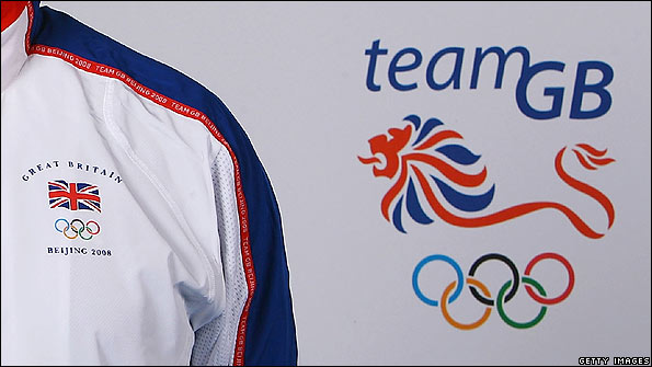 The Team GB kit and logo