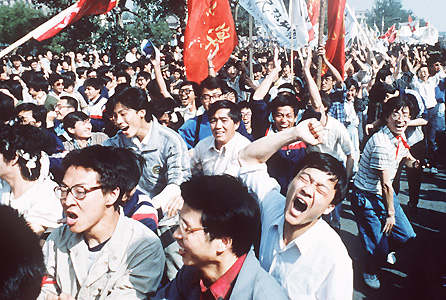 Chinese students rise up in 1989