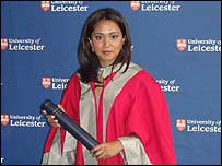 Parminder Nagra with her honorary doctorate
