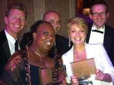 Anne Diamond and the BBC Radio Berkshire team with the Sony Awards