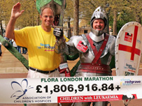 Sir Steve Redgrave. Money raised through the London Marathon