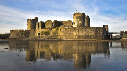 Caerphilly castle by Tim Wood.