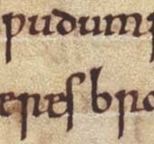 Detail from the Anglo Saxon chronicle