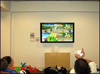 Google employees playing Wii