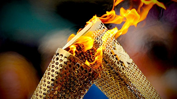 Pic of Olympic torches