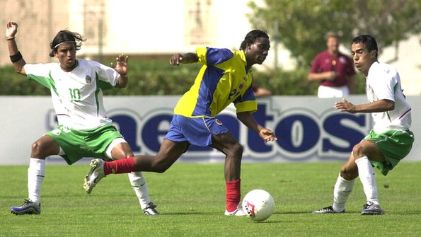 Avimiled Rivas playing for Colombia in 2003