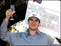 Michael Carroll wins The National Lottery in 2002