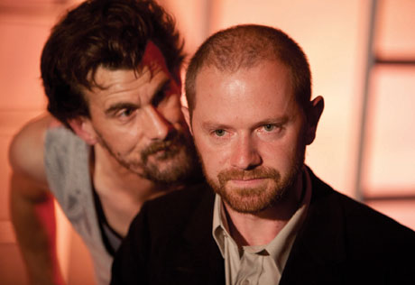 Photo of Michael Wagg as Gwarwyn-a-throt (Gat) and Stephen Hickman as Samuel Jenkins © Simon Gough Photography