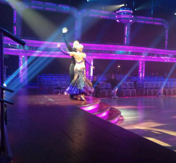 Pamela Stephenson and James Jordan in Dress Rehearsal for Strictly Come Dancing