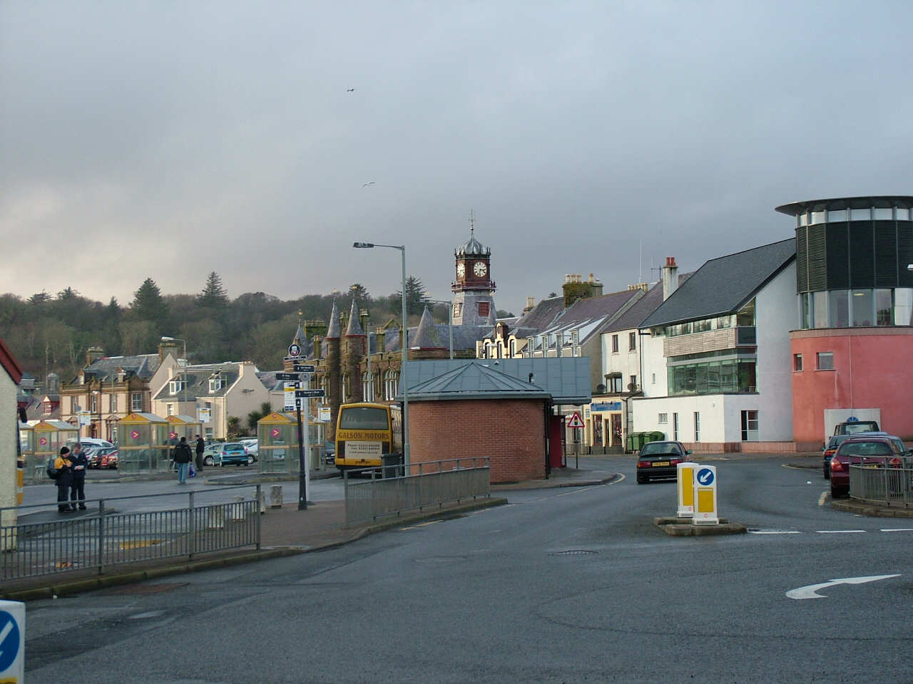 South Beach, Stornoway - An Lanntair far right