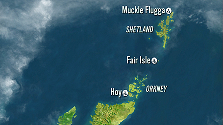 Map showing Shetland to Orkney