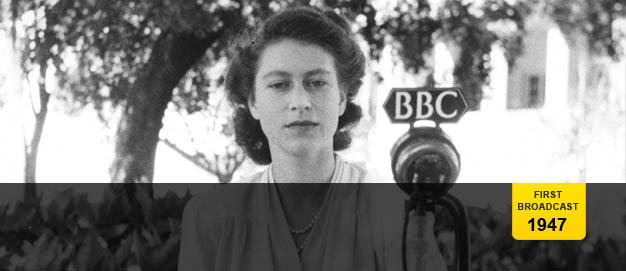 Princess Elizabeth recording her speech in South Africa.