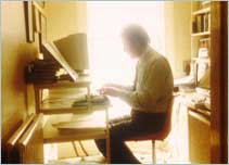 Man sitting at desk