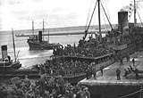 British forces being evacuated from Brest, May 1940