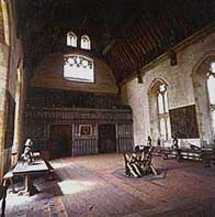 Photograph showing the impressive interior of the great hall at Penshurst Place