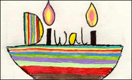 Bbc coventry and warwickshire features diwali cards gallery diwali cards by pupils at kingsley school m4hsunfo