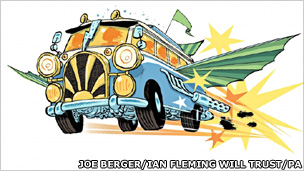 Joe Berger's illustration of Chitty Chitty Bang Bang