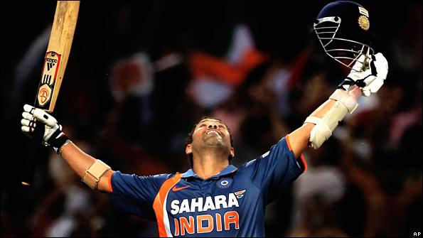 Sachin Tendulkar celebrates  Sachin Tendulkar 200 Not Out