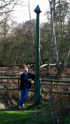 The RSPB's Andre Farrah standing beside the Holme Fen post at Holme Fen National Nature Reserve