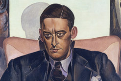 Detail from T S Eliot by Percy Wyndham Lewis, 1938 © The Estate of Mrs G A Wyndham Lewis; The Wyndham Lewis Memorial Trust