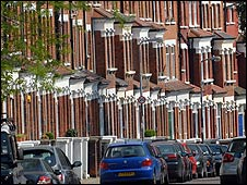 Terraced houses in North London