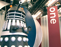 A dalek was our other special guest in the studio