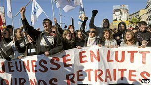 Students protesting in Marseilles, 19 October 2010