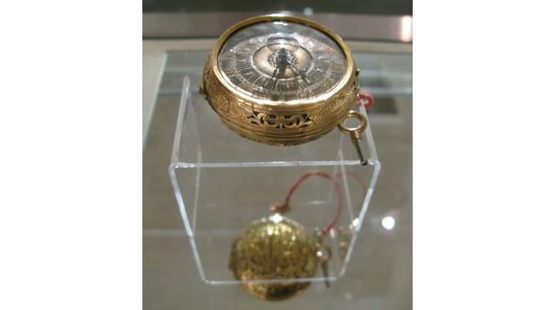 Gold repousée pocket watch with chime
