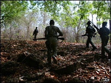 Maoist rebels in India jungle