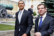 Barack Obama and Dmitry Medvedev reached an outline agreement in July
