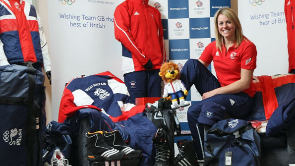 Chemmy Alcott at Team GB kitting-out