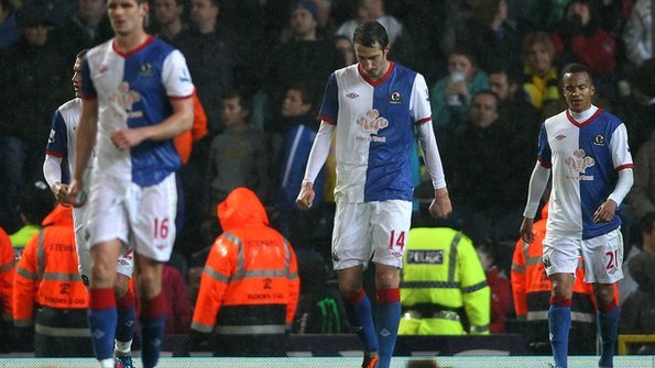 1890b367c9b The Blackburn Rovers players are now down and out. Photo  Getty