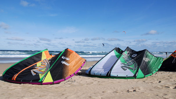 It was a five-day event attracting kitesurfers from across the UK and France.