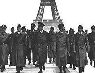 Hitler at the Eiffel Tower, following the fall of France in 1940