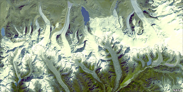Satellite image of the Himalayas
