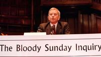 Lord Saville presiding over The Bloody Sunday Inquiry at the Guildhall in Londonderry, 13 June 2010